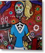 Day Of The Dead Waitress Metal Print