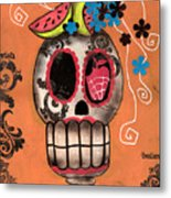 Day Of The Dead Watermelon Metal Print by  Abril Andrade Griffith