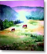 Daybreak And Clover Metal Print
