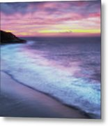 Daybreak At Caswell Bay Metal Print
