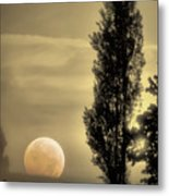 Daybreak On A Country Road Metal Print