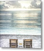 Daydreaming By The Sea In Watercolors Metal Print