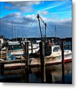 Days End At The Dock Metal Print