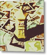 Days From The Vintage Post Office Metal Print