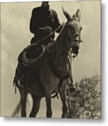 Days Of Old Miss Aleto And The Cowboy Metal Print
