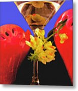 Happy Cocktail Hour Metal Print