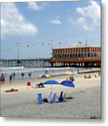Daytona Beach Pier Metal Print