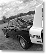 Daytona Charger In Black And White Metal Print