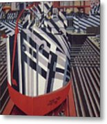 Dazzle Ships In Drydock At Liverpool Metal Print