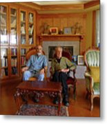 Db6362 Ed Cooper With Fred Beckey In Library 2013 Metal Print