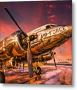 Dc-3 In Surreal Evening Light Metal Print