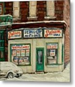 De Bullion Street In  Winter Montreal Metal Print