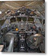 De Havilland Dh106 Comet 4 G Apdb Cockpit Full Size Poster Metal Print