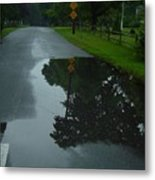 Dead End Puddle Metal Print