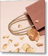 Dead Flower Petals With A Gift, Begonia Metal Print