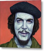Dead Red - Che Metal Print