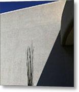 Dead Saguaro Building And Shadows Metal Print
