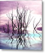 Dead Trees Colored Version Metal Print