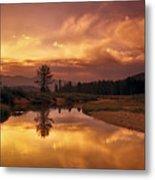 Deadwood River Sunrise Metal Print