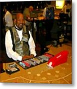 Dealer In Las Vegas Casino Metal Print