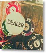 Dealers House Edge Metal Print