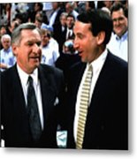 Dean Smith And Mike Krzyzewski Metal Print