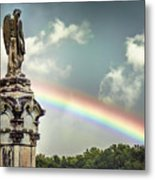 Death And A Rainbow Metal Print