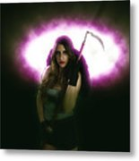 Death Carrying Scythe Metal Print