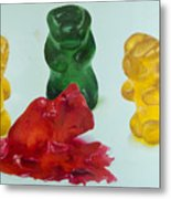 Death Of A Gummy Bear II Metal Print
