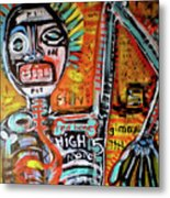 Death Of Basquiat Metal Print