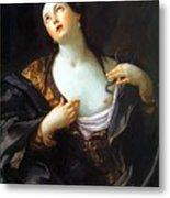 Death Of Cleopatra 1598 Metal Print