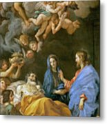 Death Of Saint Joseph Metal Print