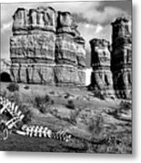 Death On Notom-bullfrog Road - Capitol Reef - Bw Metal Print