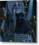 Death Queen On Throne With Skulls Metal Print