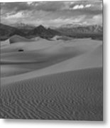 Death Valley Dunes Black And White Metal Print