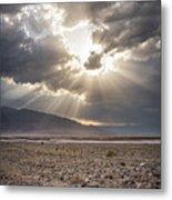 Death Valley Sun Burst Metal Print
