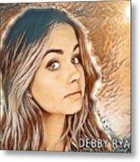 Debby Ryan Golden Beauty Metal Print