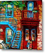 Debullion Street Neighbors Metal Print