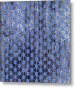 Decadent Urban Blue Patterned Abstract Design Metal Print