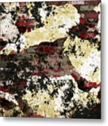 Decadent Urban Red Bricks Painted Grunge Abstract Metal Print