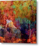 Decadent Urban Red Wall Grunge Abstract Metal Print