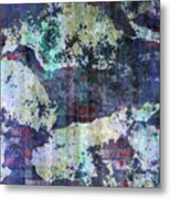Decadent Urban White Splashed Bricks Grunge Abstract Metal Print