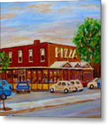 Decarie  Tasty  Food  Pizza Metal Print