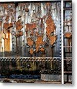 Decaying Railroad Car Metal Print