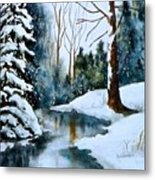 December Beauty Metal Print