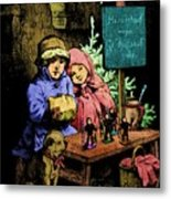 A Warm Moment On A Cold December Day Metal Print