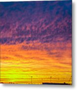 December Nebraska Sunset 003 Metal Print