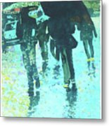 December Rain In Nurnberg Metal Print