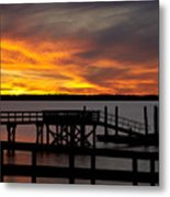 December Sunset Metal Print