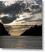 Deception Pass Bridge Sunset Two Metal Print